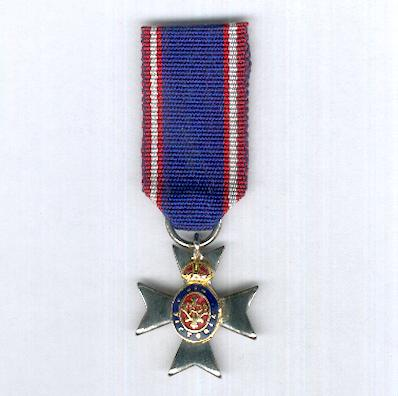 The Royal Victorian Order, Member (M.V.O.), silver, miniature