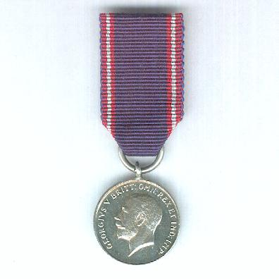 Royal Victorian Medal, silver, George V issue, miniature