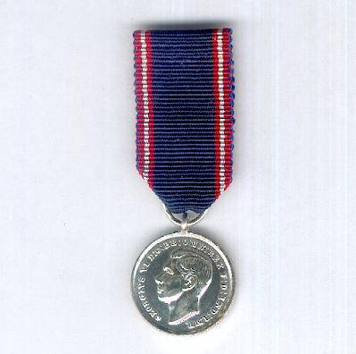 Royal Victorian Medal, silver, George VI 1st issue, 1937-1948, miniature