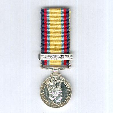 Gulf Medal with '2 Aug 1990' clasp, miniature