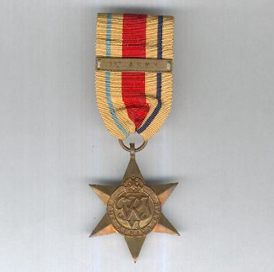 Africa Star, 1940-1943 with '1st Army' clasp