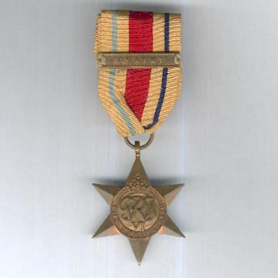 Africa Star, 1940-1943 with '8th Army' clasp