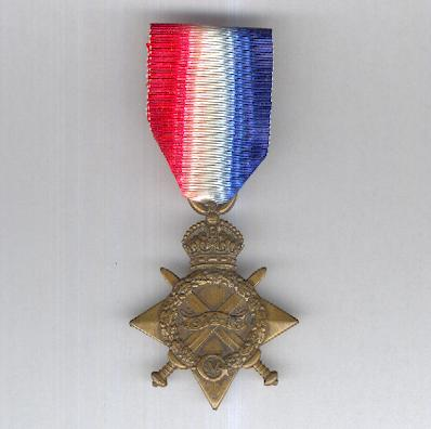 1914-15 Star, attributed to 980 Driver  J. Walker, Royal Field Artillery