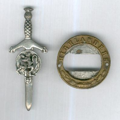 Scottish Kilt Pin and Highlanders Belt Buckle Surround
