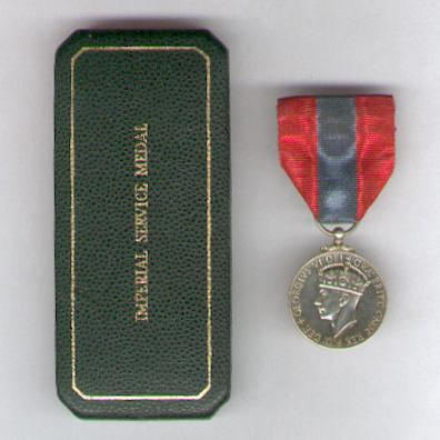 Imperial Service Medal, George VI, 1949-1952 issue, in original Royal Mint case of issue, attributed