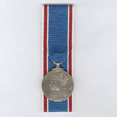 Coronation Medal 1937, silver, court-mounted, unnamed as issued