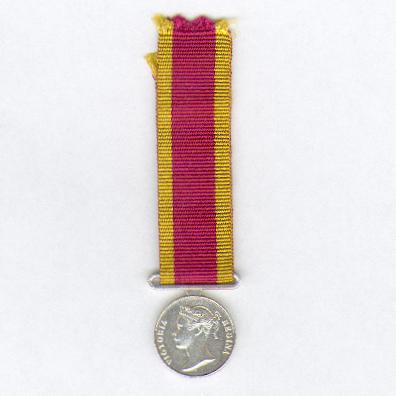 China War Medal, 1842, miniature, modern