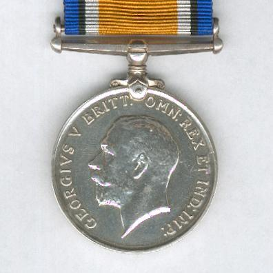 British War Medal, 1914-1920, attributed to Private E. Bird, 1st South African Infantry