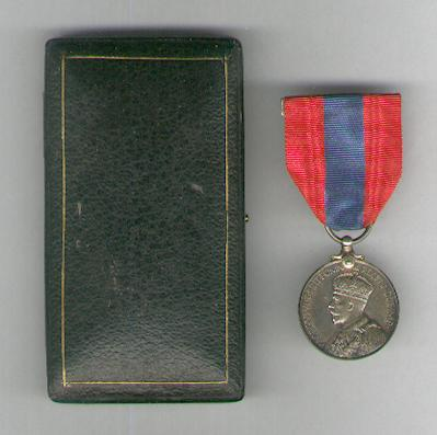 Imperial Service Medal, George V, 1931-1937 issue, attributed, in original fitted case of issue