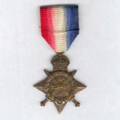 1914 Star (Mons Star), attributed, The King's Royal Rifle Corps casualty