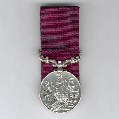 Army Long Service and Good Conduct Medal, Queen Victoria, 2nd version, 1874-1901 issue, court-mounted, attributed, King's Royal Rifle Corps