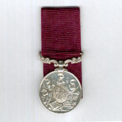 Army Long Service and Good Conduct Medal, Victoria, 2nd version, 1874-1901 issue, court-mounted, attributed, Rifle Brigade
