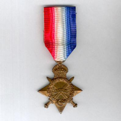 1914-15 Star, attributed to TS. 2099 T. Bain, Trimmer, Royal Naval Reserve