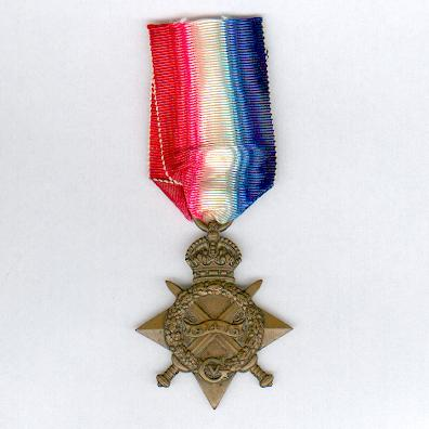 1914-15 Star, attributed to D.1791 Seaman Nicholas Gilbert, Royal Naval Reserve