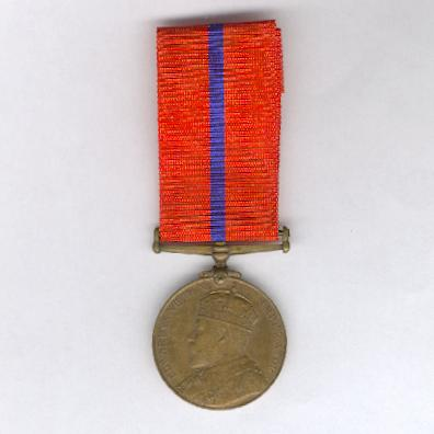 Coronation (Police) Medal, 1902, Metropolitan Police version, bronze, attributed
