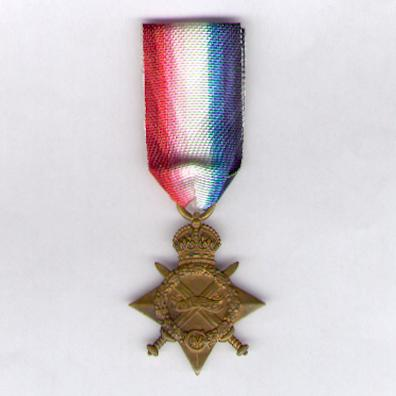 1914-15 Star, attributed to 9984 Private. C. Saville, West Yorkshire Regiment (Prince of Wales's Own)