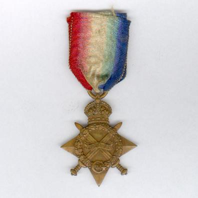 1914-15 Star, attributed to DEAL 1801–S Private W. Jacobs, Royal Marines