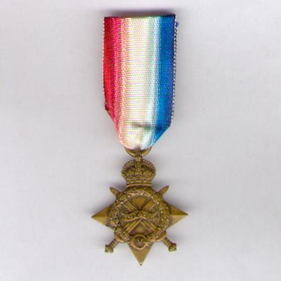 1914-15 Star, attributed, 183728, R.W. Ludgate,  A.B., Royal Navy
