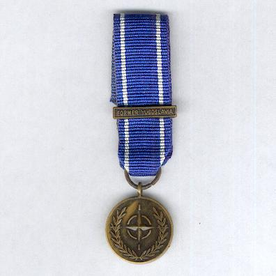 NATO Service Medal for Former Yugoslavia with 'Former Yugoslavia' bar, miniature