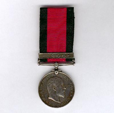 Natal Rebellion Medal, 1906, with '1906' clasp, attributed, Natal Carbineers
