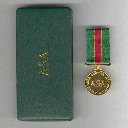 Ambulance Service Association Service Medal in original fitted embossed case of issue by Toye, Kenning & Spencer Limited of London