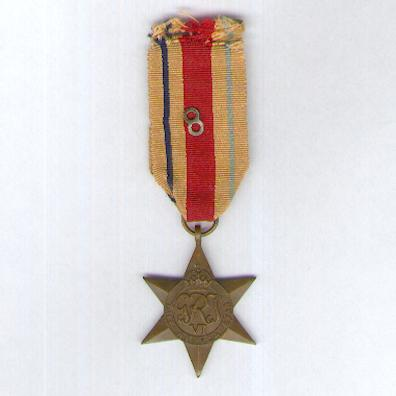 Africa Star, 1940-1943 with unusual 8th Army ribbon device