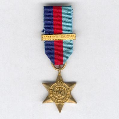 1939-1945 Star with 'Battle of Britain' clasp, miniature