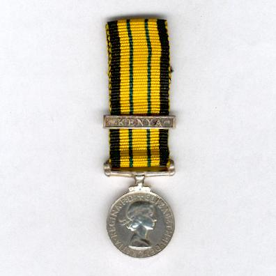 Africa General Service Medal, Elizabeth II issue with 'KENYA' clasp, miniature