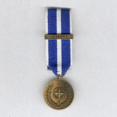NATO Service Medal for Kosovo with 'Kosovo' bar, miniature