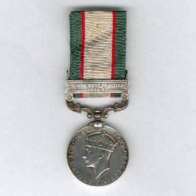 India General Service Medal 1936-1939 with 'North-West Frontier 1936-37' clasp, attributed to 33088 Sepoy Afzal Khan, Frontier Corps