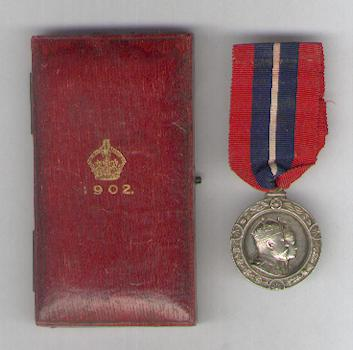 Coronation Medal 1902, rare version to Mayors and Provosts, silver, unnamed as issued, by Elkington & Co. Ltd. of London, in original fitted embossed case of issue