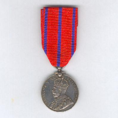 Coronation (Police) Medal, 1911, silver, rare St. John Ambulance Brigade version, attributed