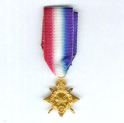 1914-15 Star, miniature by K. G. Luke of Melbourne, Australia