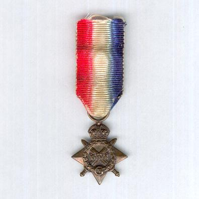 1914-15 Star, miniature