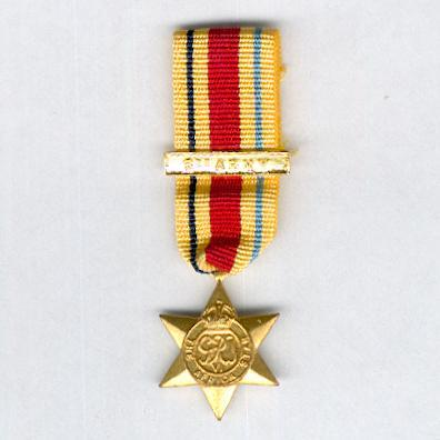 Africa Star, 1940-1943 with '8th Army' bar, miniature by K.G. Luke of Melbourne