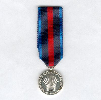 Border Defence Medal, miniature