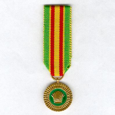Order of Service of Guyana, The Cacique's Crown of Valour, miniature