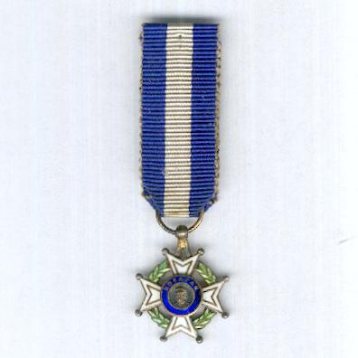 Order of Francisco Morazan, knight (Orden Francisco Morazán, caballero), miniature