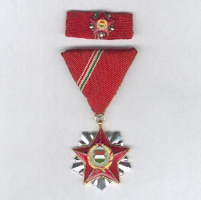 Order of Merit of the Socialist Homeland (Szocialista Hazáért Érdemrend), 1966, with ribbon bar with miniature