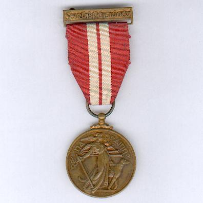 The Emergency Service Medal, 2nd Line Volunteer Reserve (An Bonn Seirbhíse Éigeandála, Fórsa na nÓgla? 2ú líne), 1939-1946, by P. Quinn Ltd. of Dublin