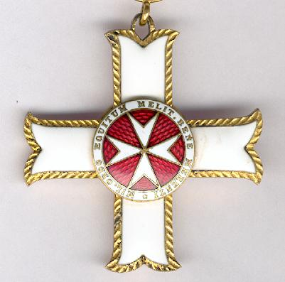 Sovereign Military Hospitaller Order of Saint John of Jerusalem, of Rhodes and of Malta, Cross of Merit, in fitted embossed case of issue by Tanfani and Bertarelli