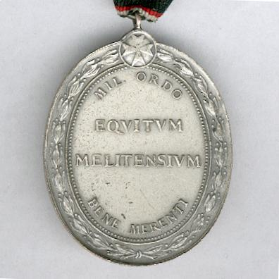 Order of Merit of the Sovereign Military Hospitaller Order of St John of Jerusalem, of Rhodes and of Malta, silver medal