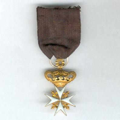 Sovereign Military Hospitaller Order of Saint John of Jerusalem, of Rhodes and of Malta, Knight of Justice, reduced size breast badge, gold and enamel