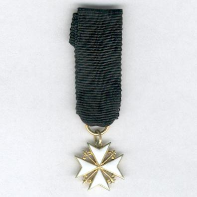 Sovereign Military Hospitaller Order of Saint John of Jerusalem, of Rhodes and of Malta, Knight of Justice, Conventual Chaplain or Knight or Dame in Obedience, miniature