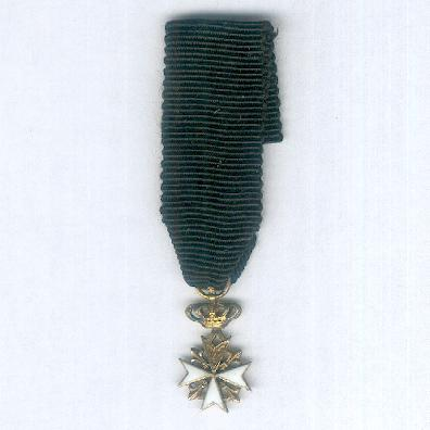 Order of Merit of the Sovereign Military Hospitaller Order of Saint John of Jerusalem, of Rhodes and of Malta, Donat of Justice, miniature