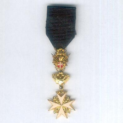 Order of Merit (Military Division) of the Sovereign Military Hospitaller Order of Saint John of Jerusalem, of Rhodes and of Malta, Knight of Honour and Devotion, miniature