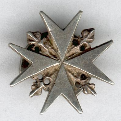 Sovereign Military Hospitaller Order of Saint John of Jerusalem, of Rhodes and of Malta, silver buttonhole insignia