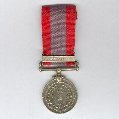 Special Service Medal (Visesh Seva Padak) with 'Sri Lanka' clasp, attributed to 1555008 L Havaldar A. Singh, Bombay Engineer Group