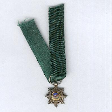Imperial Order of the Lion and the Sun, civil division (Nishan-i-Shir u Khurshid, nishan-i-hormat), V class, 1820-1925 issue, miniature by De Greef of Brussels