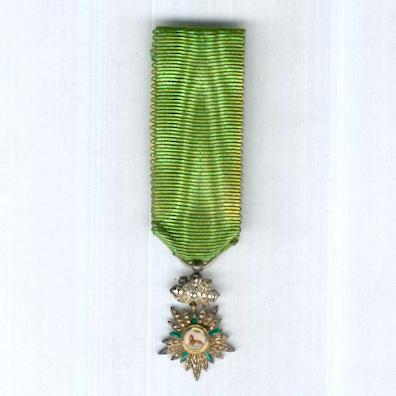 Imperial Order of the Lion and the Sun, civil division (Nishan-i-Shir u Khurshid, nishan-i-hormat), IV class, miniature